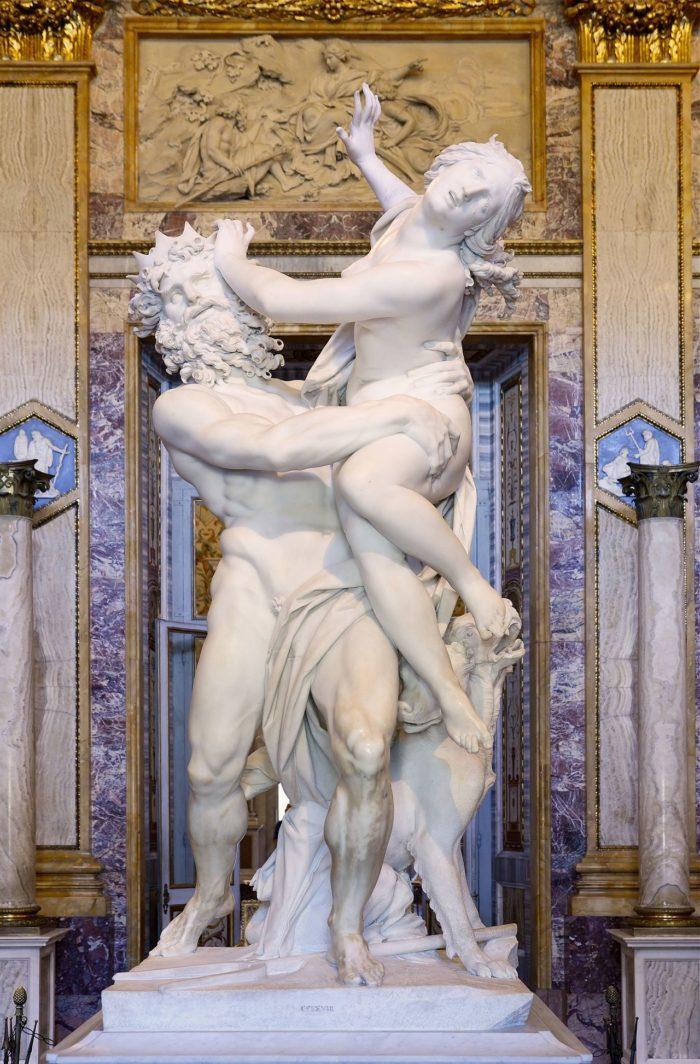 プロセルピナの略奪 ベルニーニ ボルゲーゼ美術館 イタリア ローマ