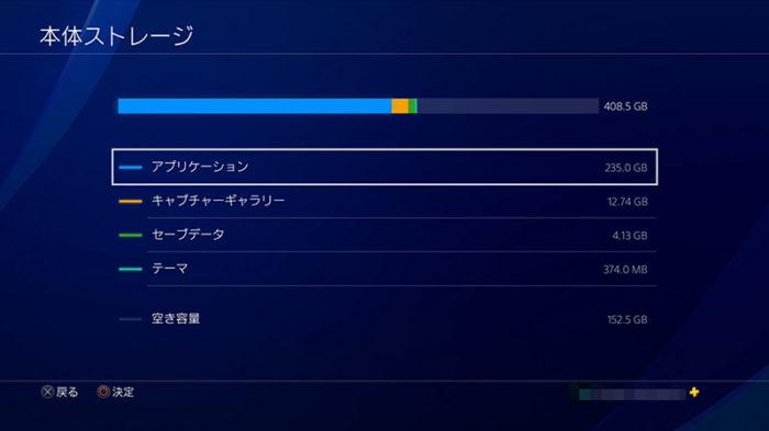 PS4に保存されているデータ