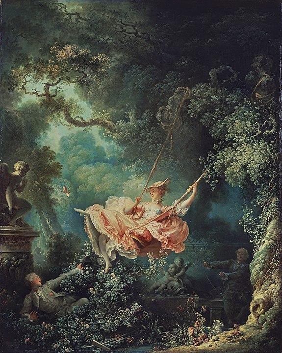 ロココ期の作品 ジャン・オノレ・フラゴナール 「ぶらんこ」ウォレス・コレクション(ロンドン)蔵
