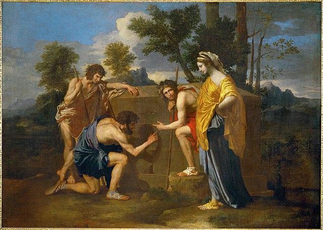 新古典主義の理想となったニコラ・プッサンの作品「アルカディアの牧人たち」1638 - 1640頃ルーヴル美術館