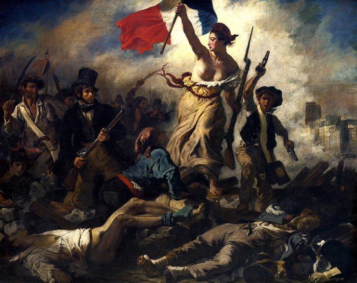 ロマン主義絵画の代表ウジェーヌ・ドラクロワの「民衆を導く自由の女神」(1830年、ルーヴル美術館所蔵)