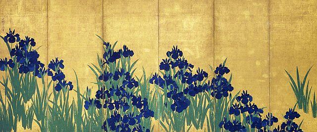 尾形光琳「燕子花図」