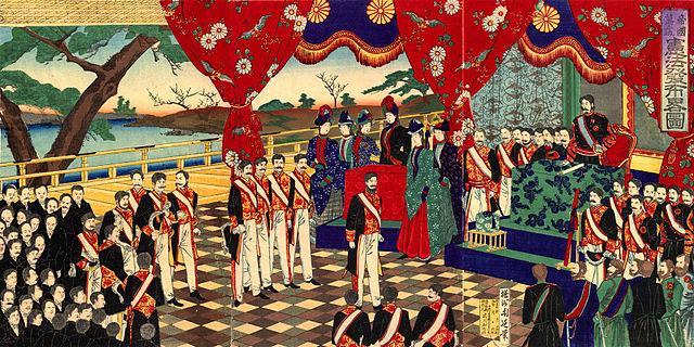 楊洲周延 憲法発布略図 明治22年