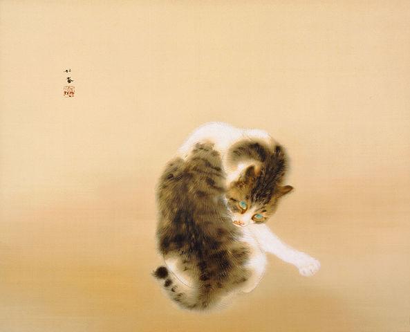 竹内栖鳳「班猫(はんびょう)」
