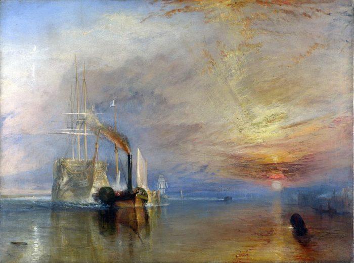 ウィリアム・ターナー「解体されるために最後の停泊地に曳かれてゆく戦艦テメレール号」