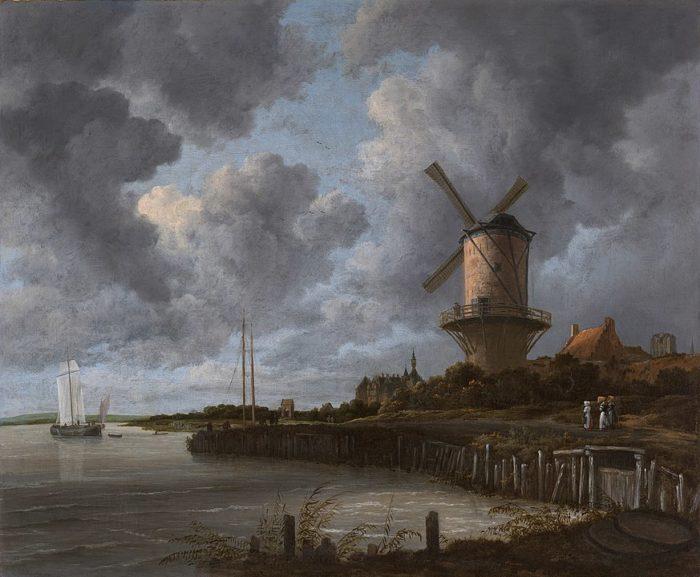 ヤーコプ・ファン・ロイスダール,「風車」,1670年, アムステルダム国立美術館