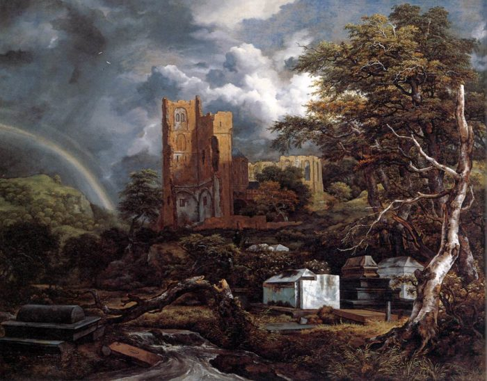 ヤーコプ・ファン・ロイスダール「ユダヤ人墓地」1657年頃 油彩・カンヴァス デトロイト美術館