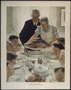 Freedom from Want, 1943 Norman Rockwell
