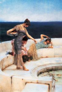 ローレンス・アルマ=タデマ「銀色のお気に入り」(1903年)