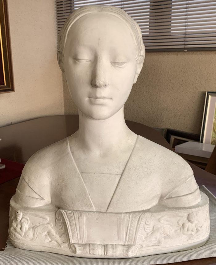 【石膏物語】マリエッタストロッチ胸像 ルネッサンス前期の肖像彫刻を代表するスタイル